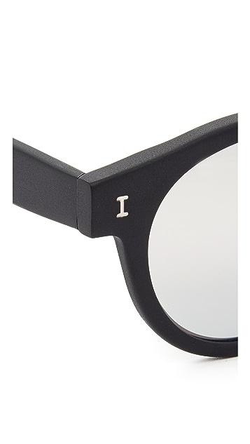 Illesteva Matte Leonard Mirrored Sunglasses