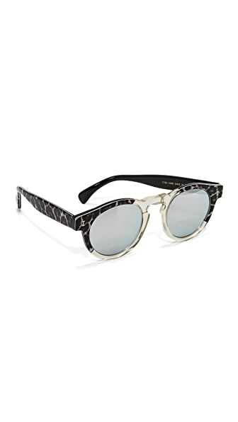 Illesteva Leonard Safari Split Sunglasses