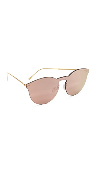 Illesteva Leonard II Mask Sunglasses In Rose Gold/Rose Gold