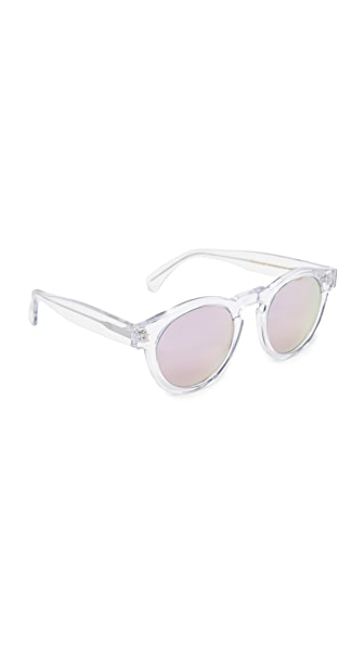 Illesteva Limited Editon Leonard Mirrored Sunglasses - Clear/Rose