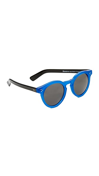Illesteva Leonard II Sunglasses - Blue/Black