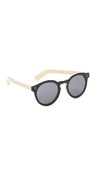 Illesteva Leonard II Sunglasses - Black Nude/Black