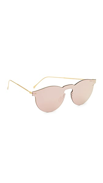 Illesteva Leonard Mask Sunglasses - Rose Gold/Rose Gold