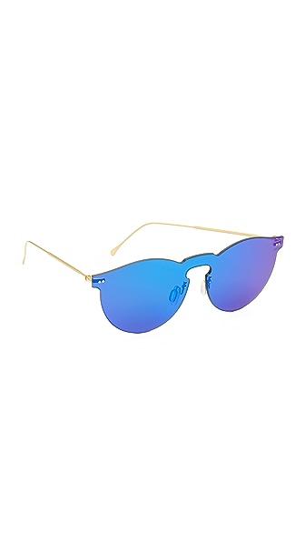 Illesteva Leonard Mask Sunglasses - Royal Blue/Royal Blue