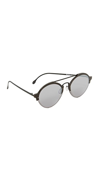 Illesteva Malpensa Sunglasses - Matte Black/Grey