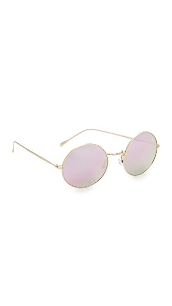 Illesteva Porto Cervo Sunglasses - Gold/Rose