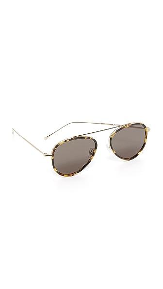 Illesteva Dorchester Ace Sunglasses In Tortoise/Grey