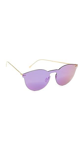 Illesteva Leonard II Mask Sunglasses - Gold/Berry