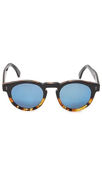 c480e6ed98b Illesteva Leonard Half   Half Mirrored Sunglasses