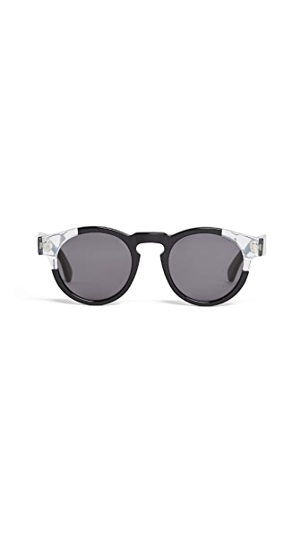 Illesteva Leonard Split Frame Sunglasses In Split Black/Grey