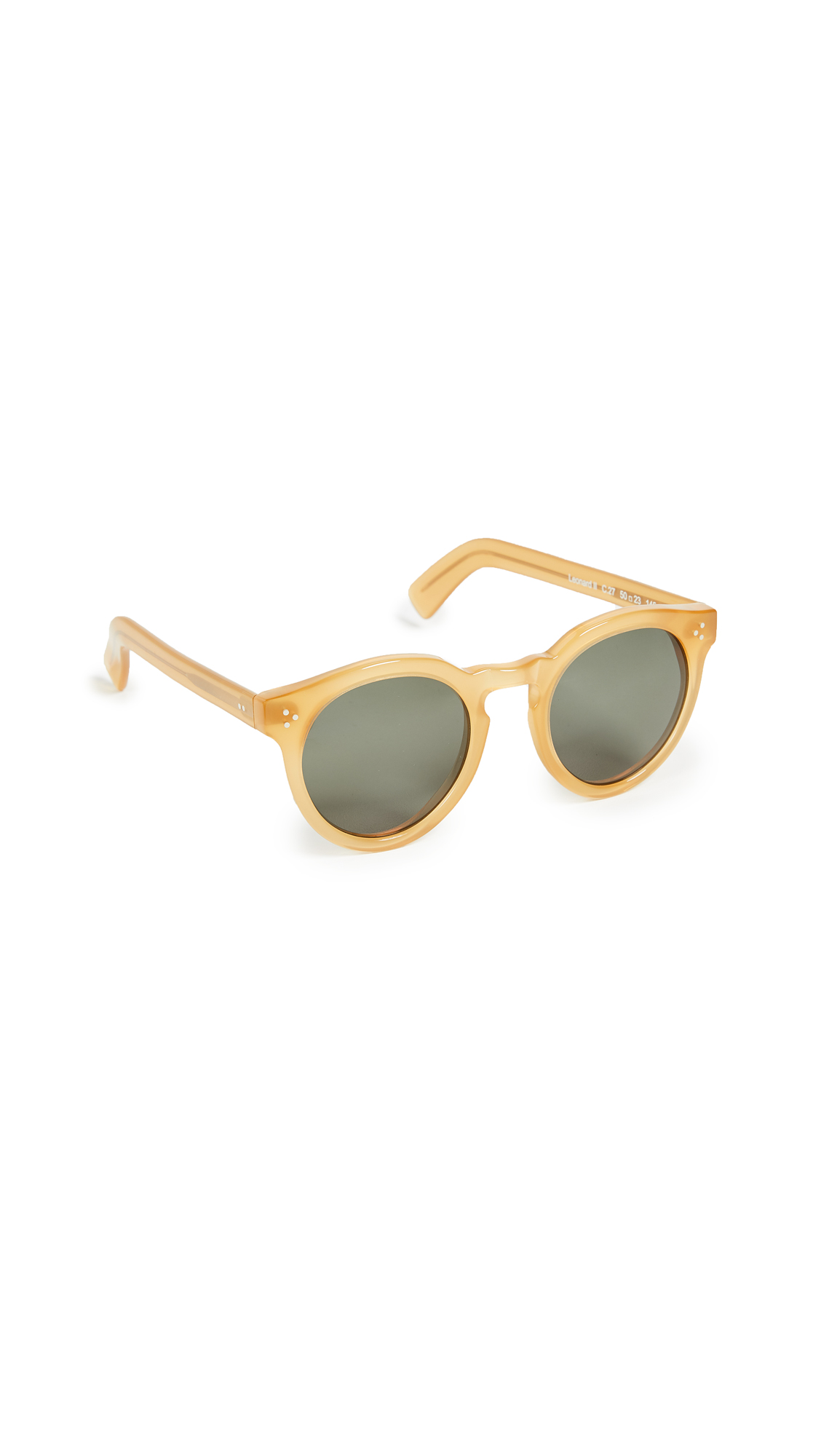 Illesteva Leonard II Sunglasses In Blonde/Olive