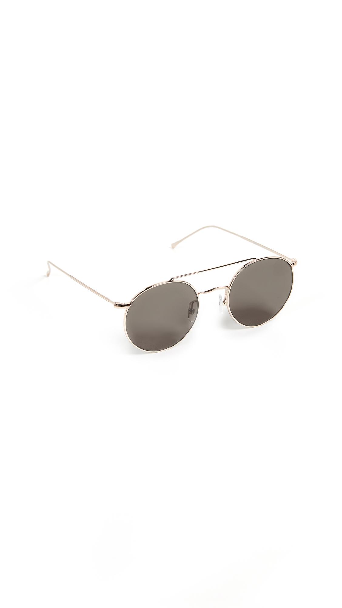 Allen M Sunglasses, Rose Gold/Grey