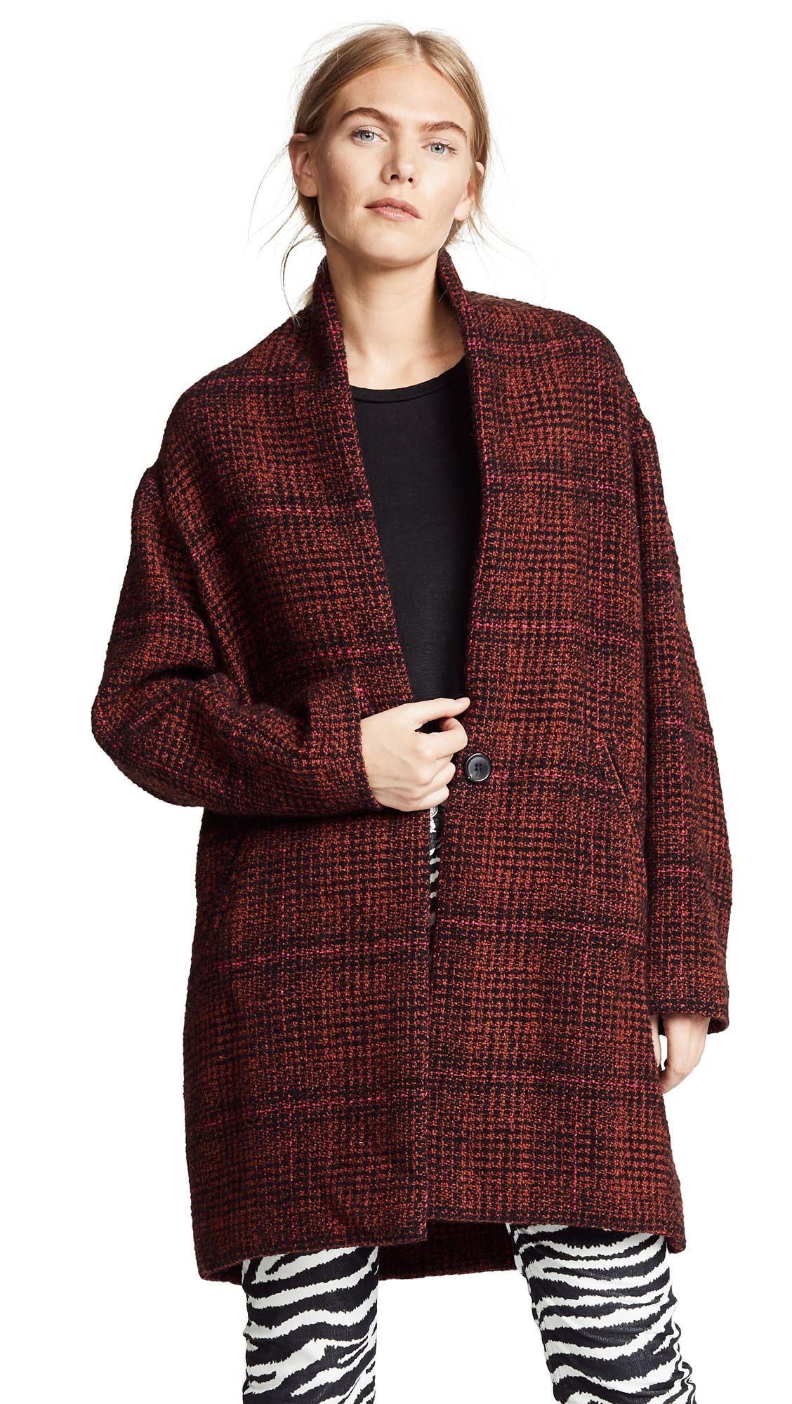 Isabel Marant Etoile Eabrie Coat In Rust