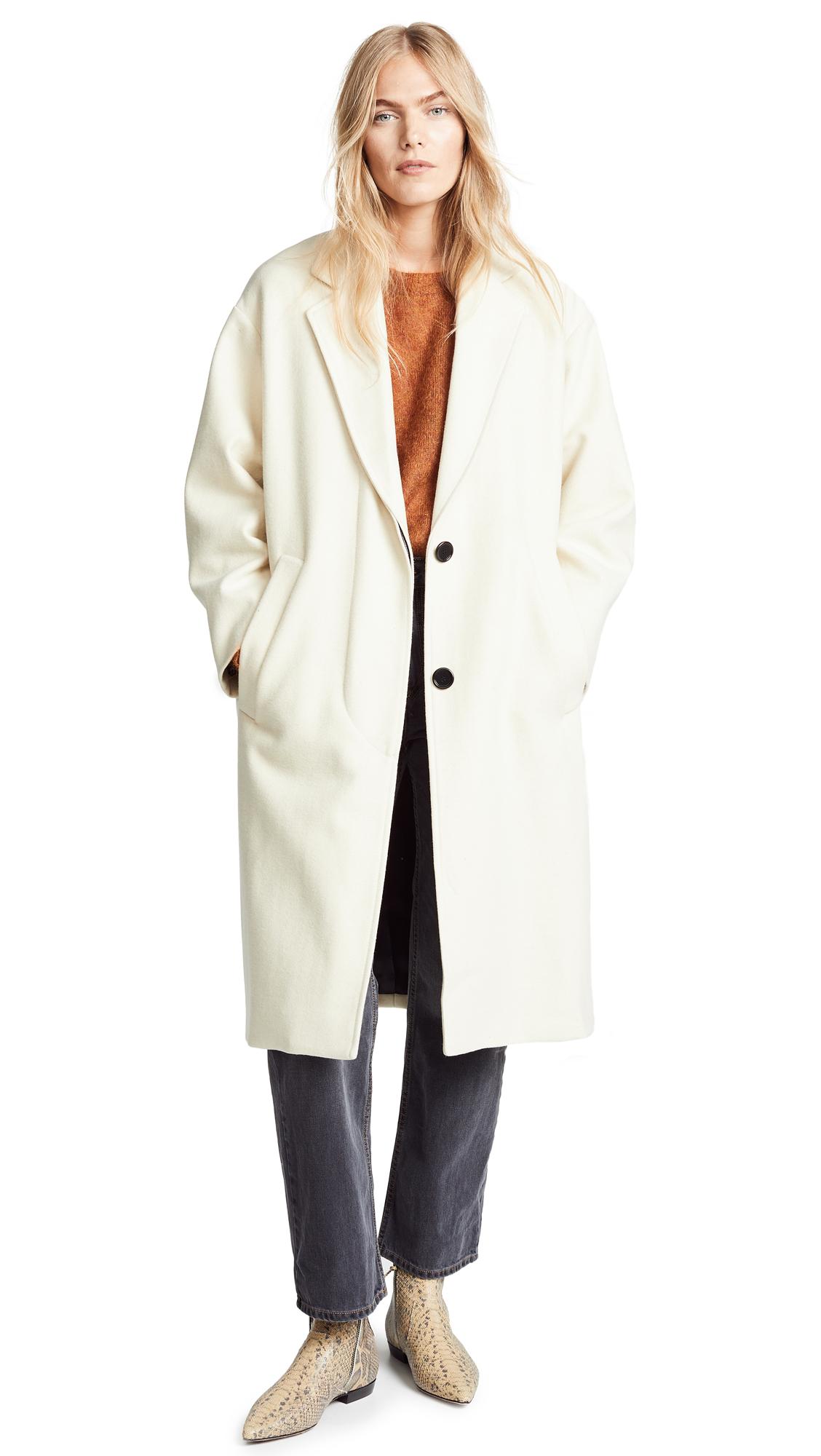 Isabel Marant Etoile Cody Coat In Ecru
