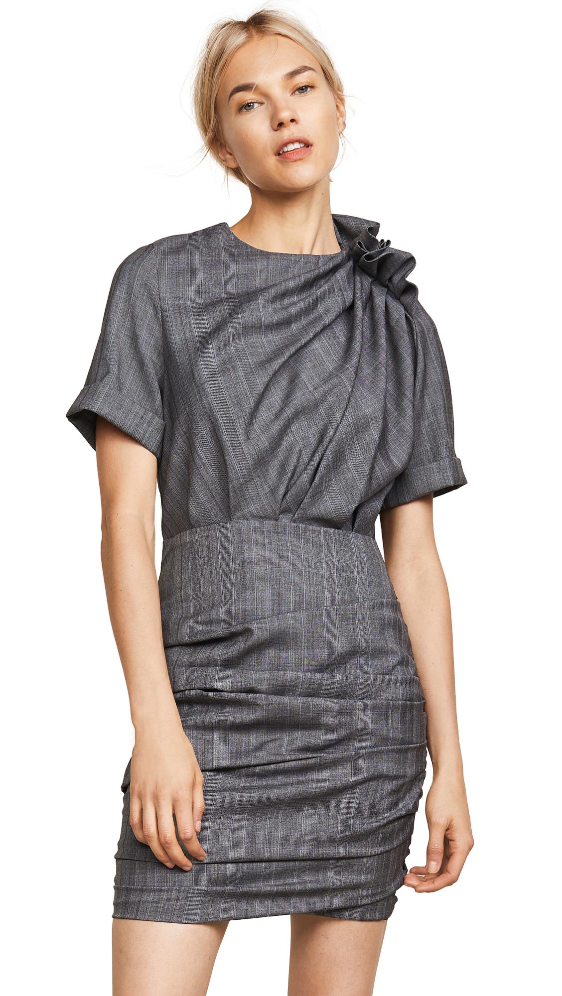 Isabel Marant Etoile Oria Dress In Grey
