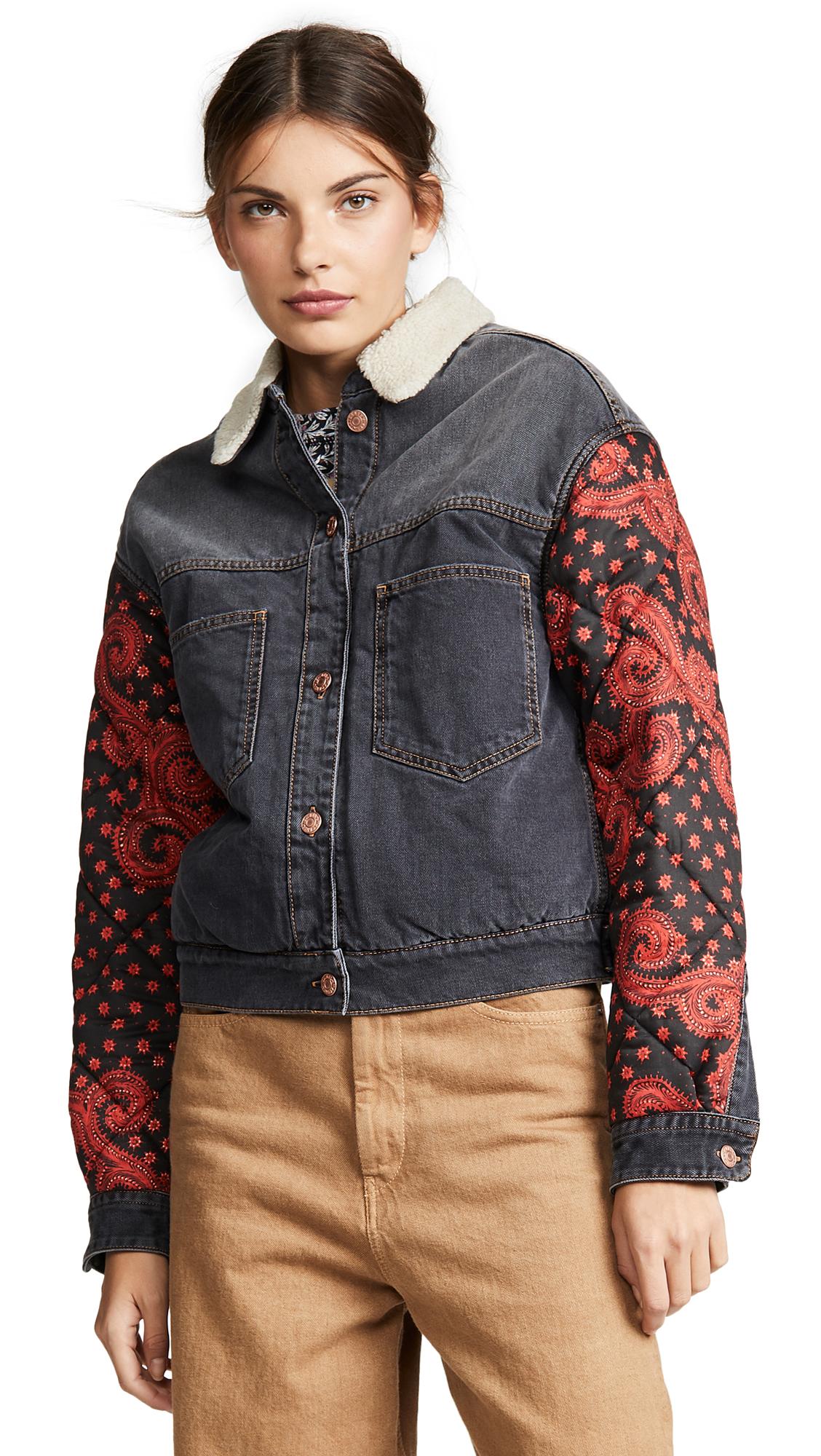 Isabel Marant Etoile Chrissa Jacket In Faded Black