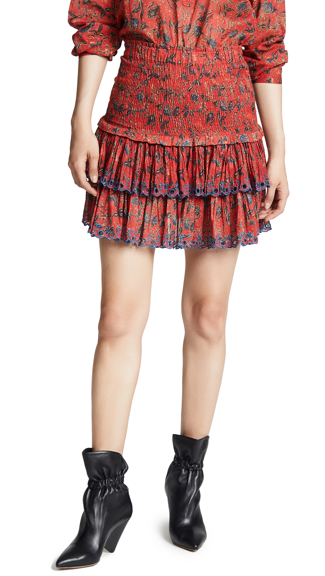 Isabel Marant Etoile Naomi Skirt In Red