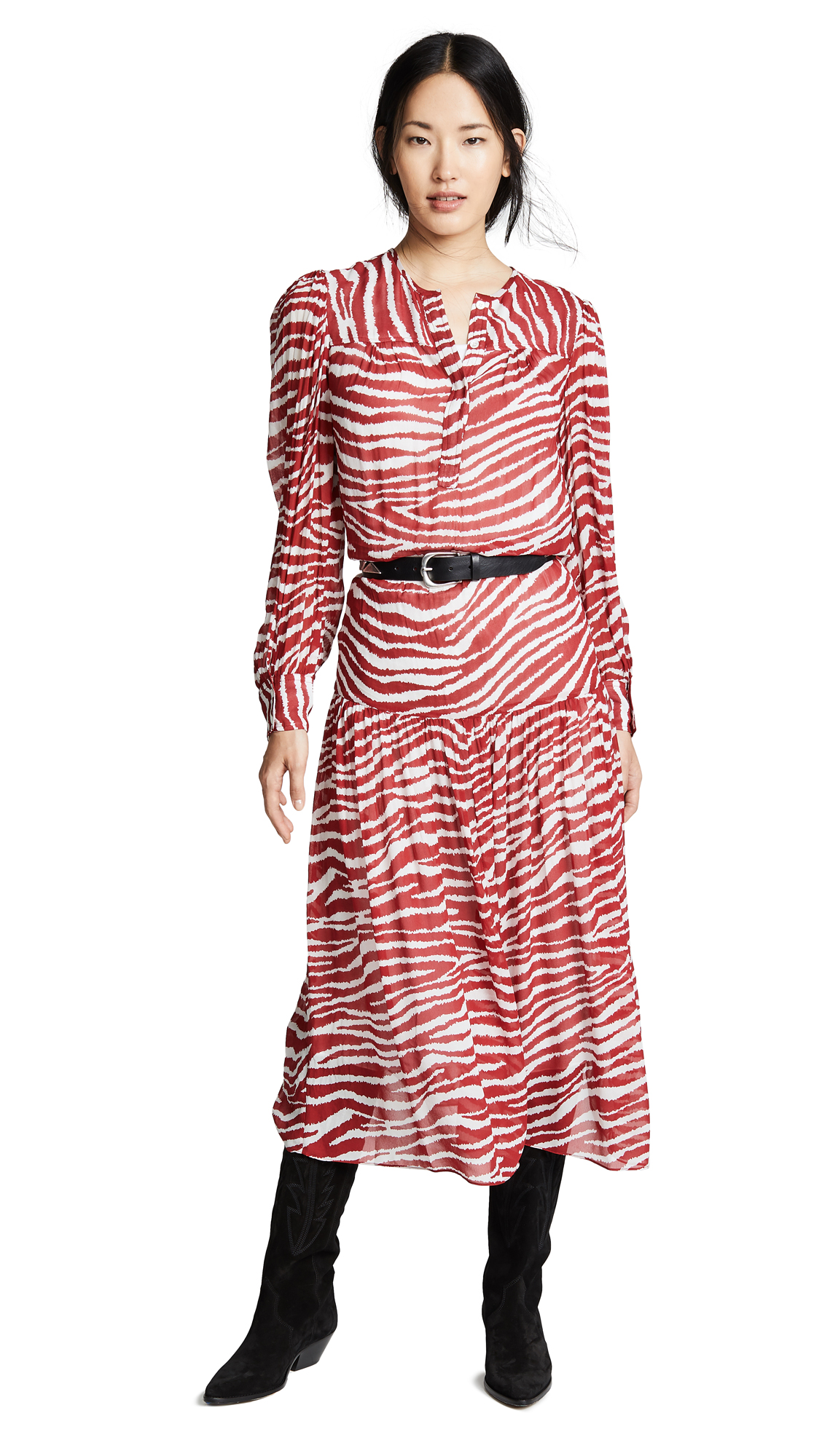 Isabel Marant Etoile Jina Dress In Red