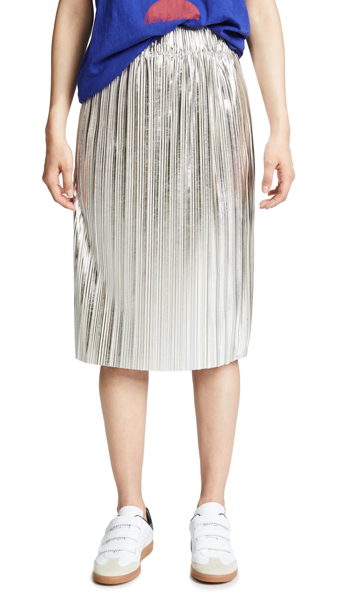 Isabel Marant Etoile Delphina Skirt In Silver