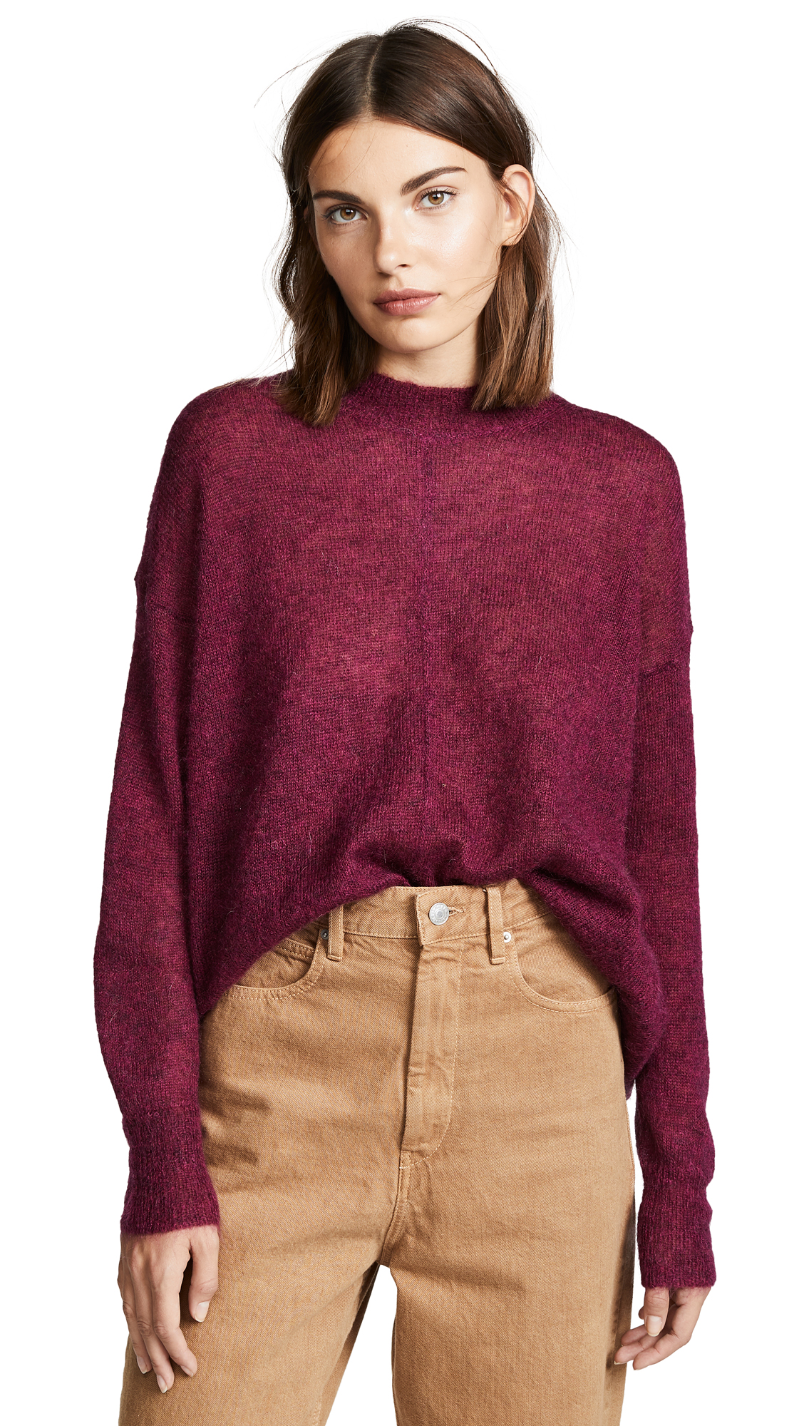 Isabel Marant Etoile Chestery Sweater In Raspberry