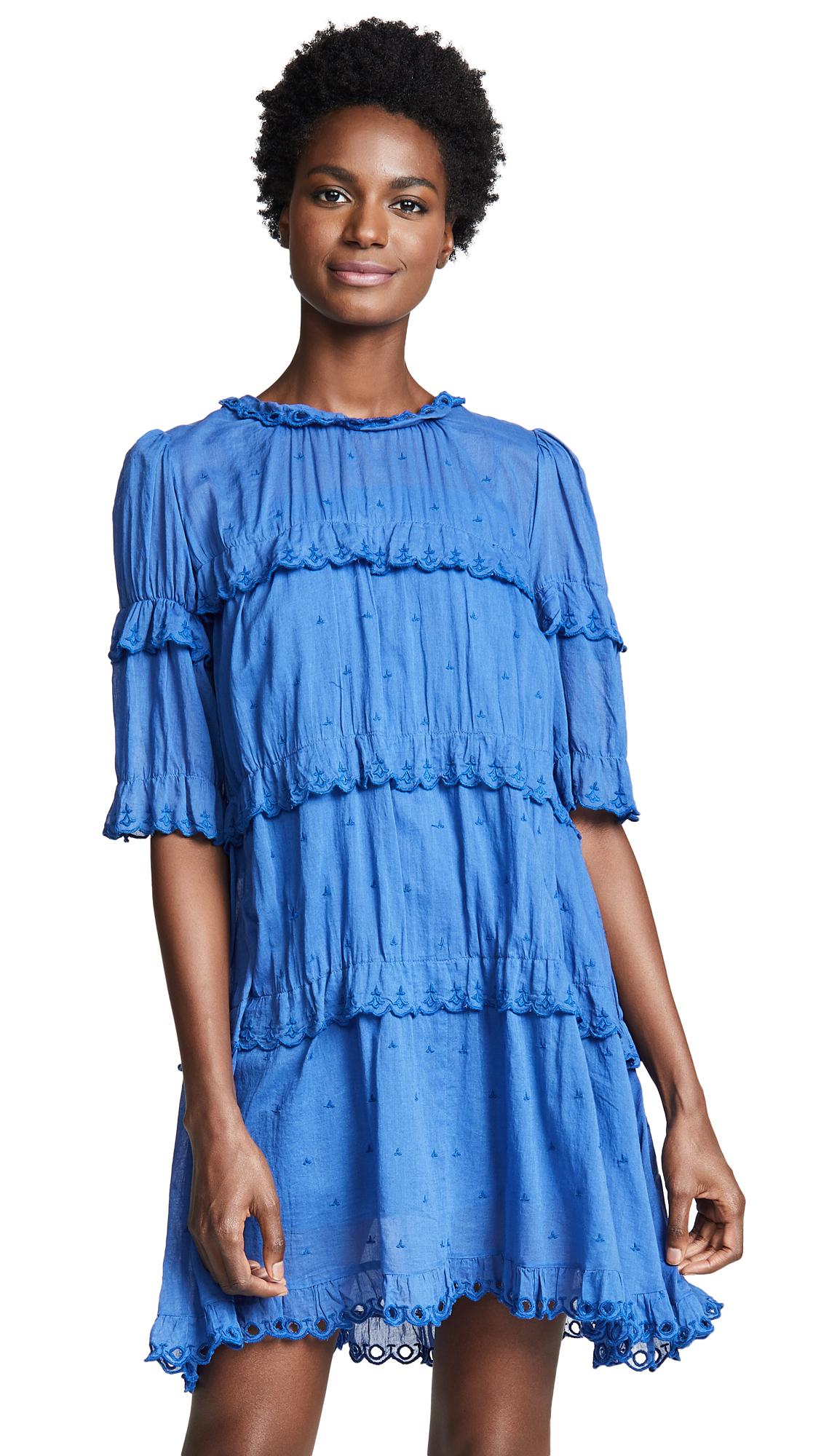 Isabel Marant Etoile Lyin Dress In Blue