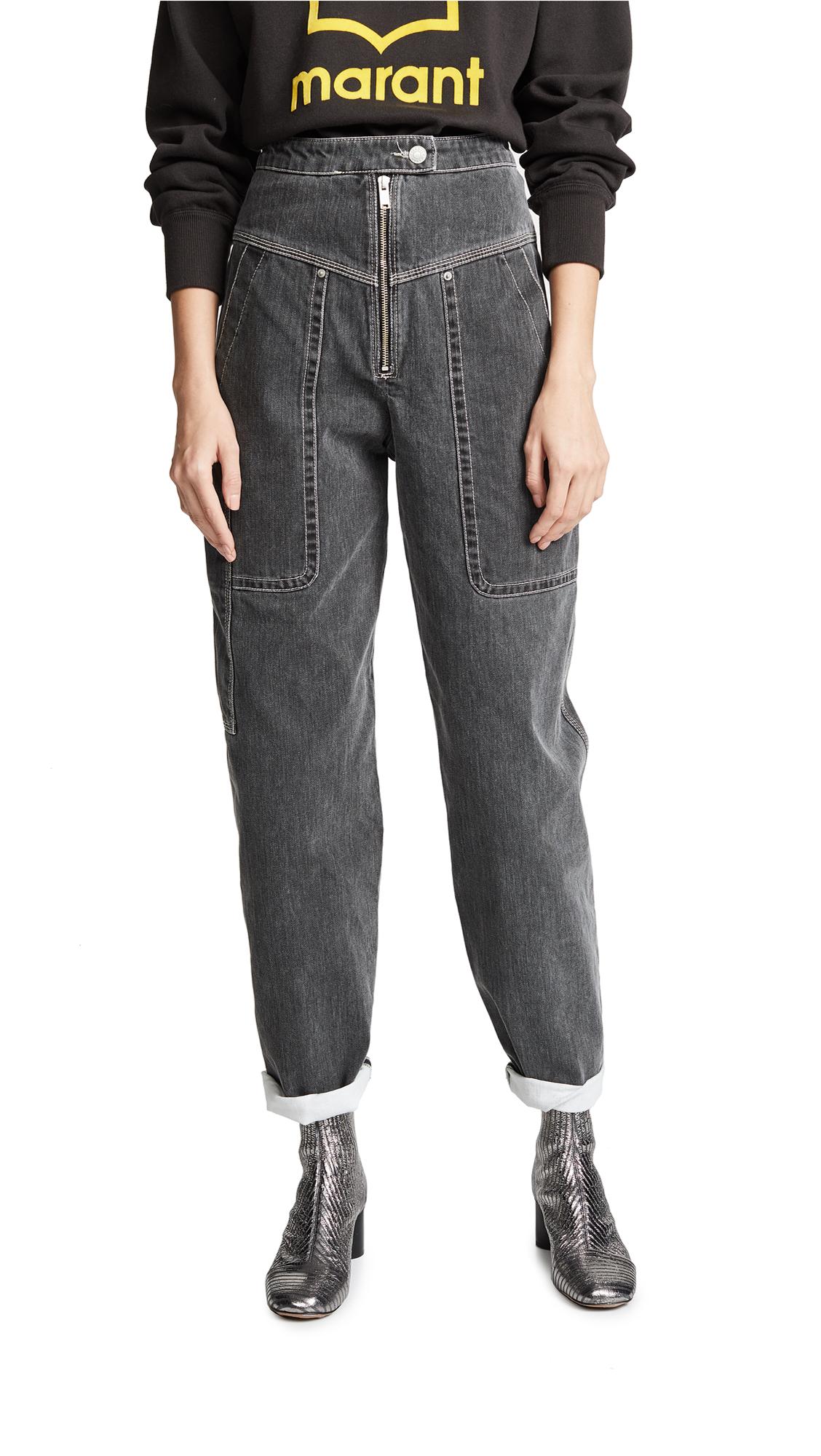 Isabel Marant Etoile Iuke Jeans - Faded Black