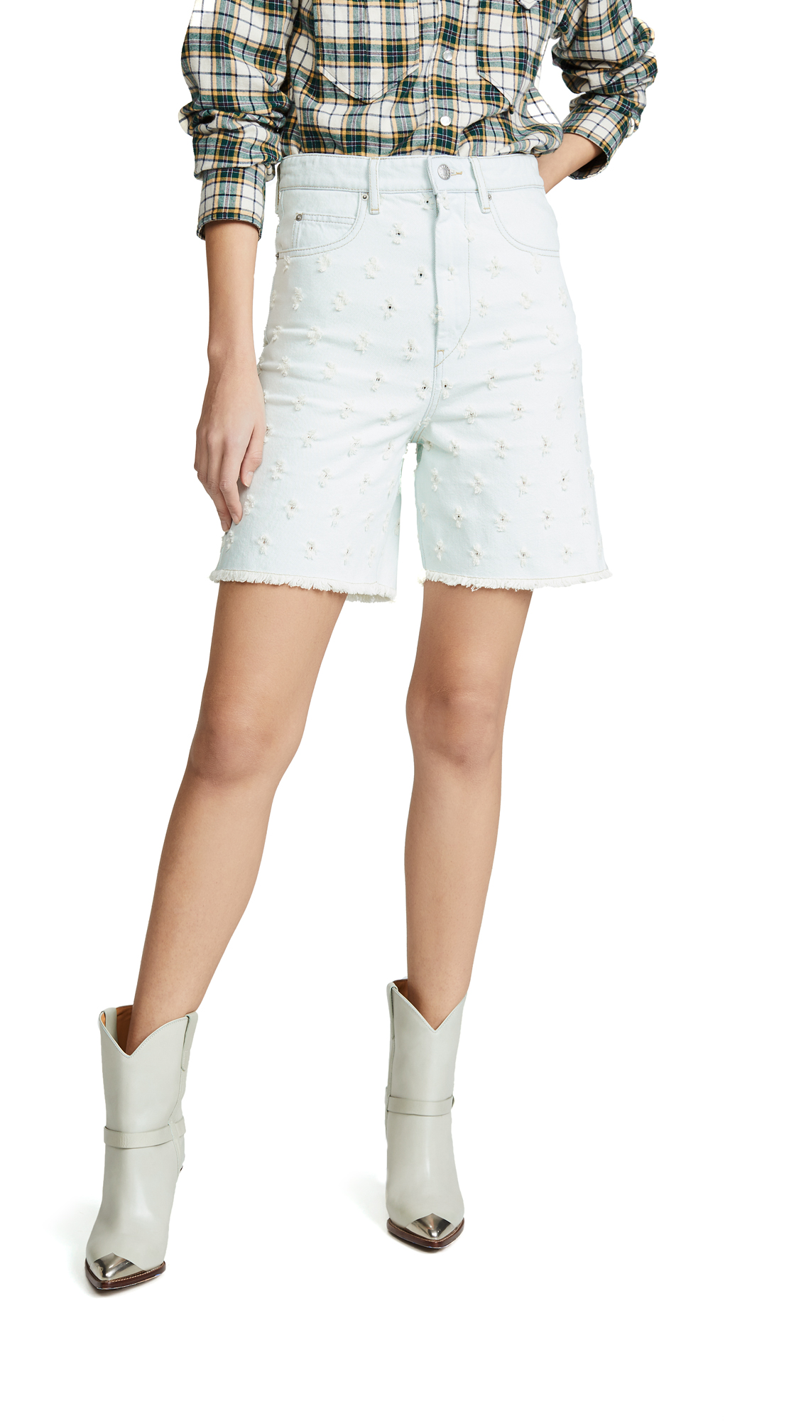 Isabel Marant Etoile Liny Denim Shorts - Light Blue