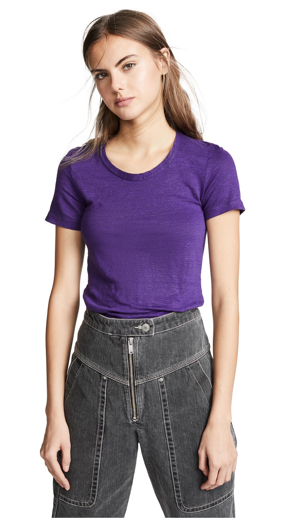 Isabel Marant Etoile Kiliann Tee - Purple