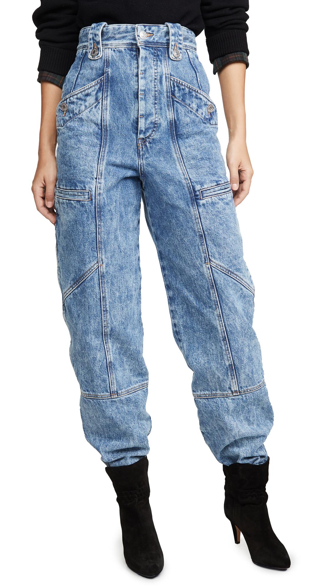 Neko Cargo Jeans In Ice Blue