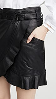 Isabel Marant Etoile Qing Leather Skirt