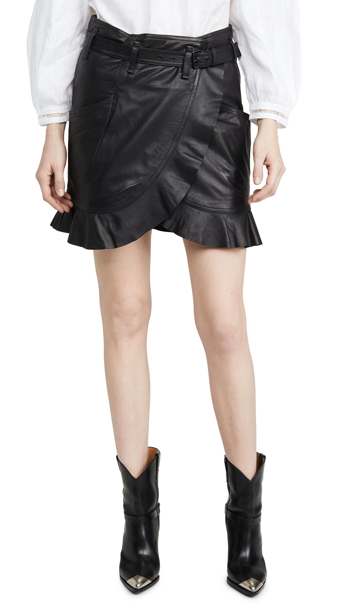 Buy Isabel Marant Etoile online - photo of Isabel Marant Etoile Qing Leather Skirt