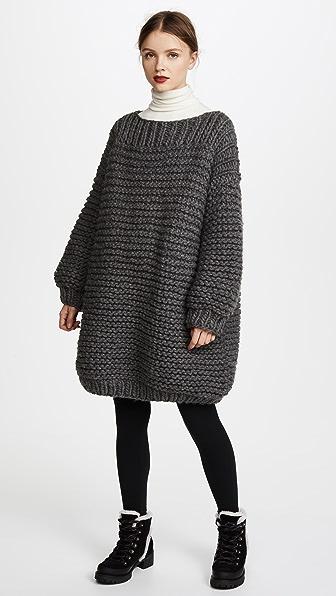 Купить I Love Mr Mittens Удлиненный свитер угольный