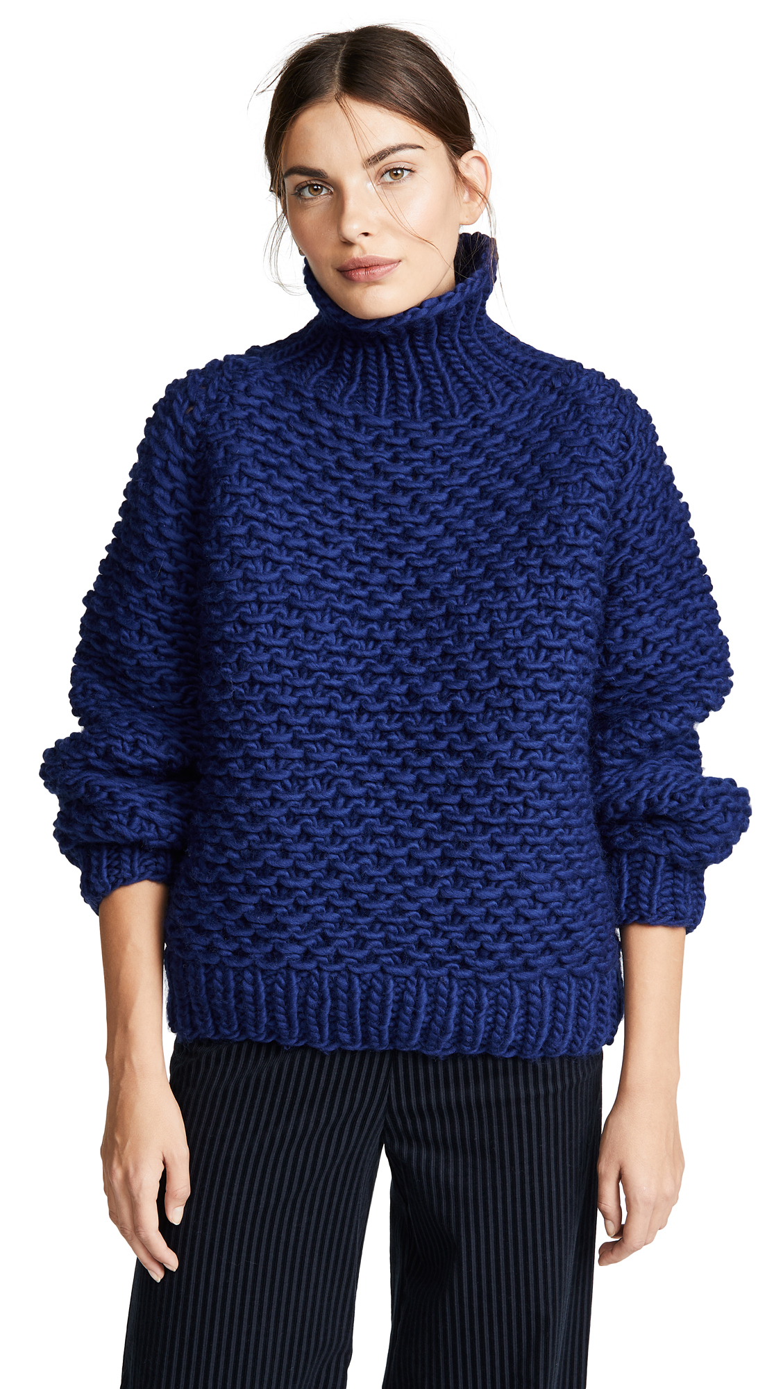 I LOVE MR. MITTENS Pearl Sweater in Navy