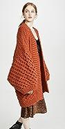 I Love Mr Mittens Oversized Textured Kimono