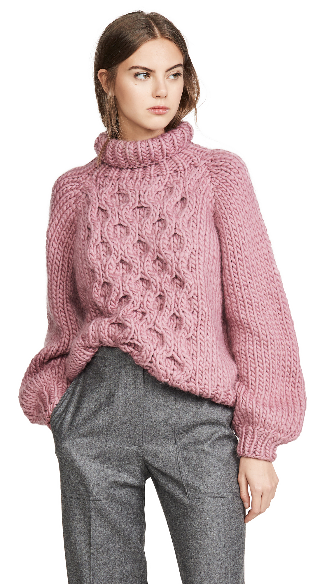 Buy I Love Mr Mittens online - photo of I Love Mr Mittens Honeycomb High Neck Sweater