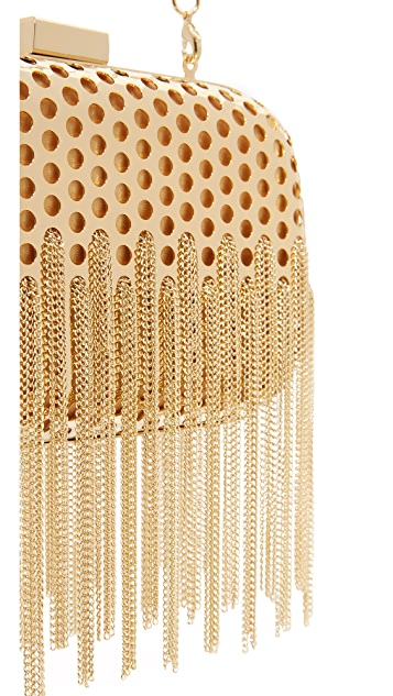 Inge Christopher Cameron Fringe Clutch