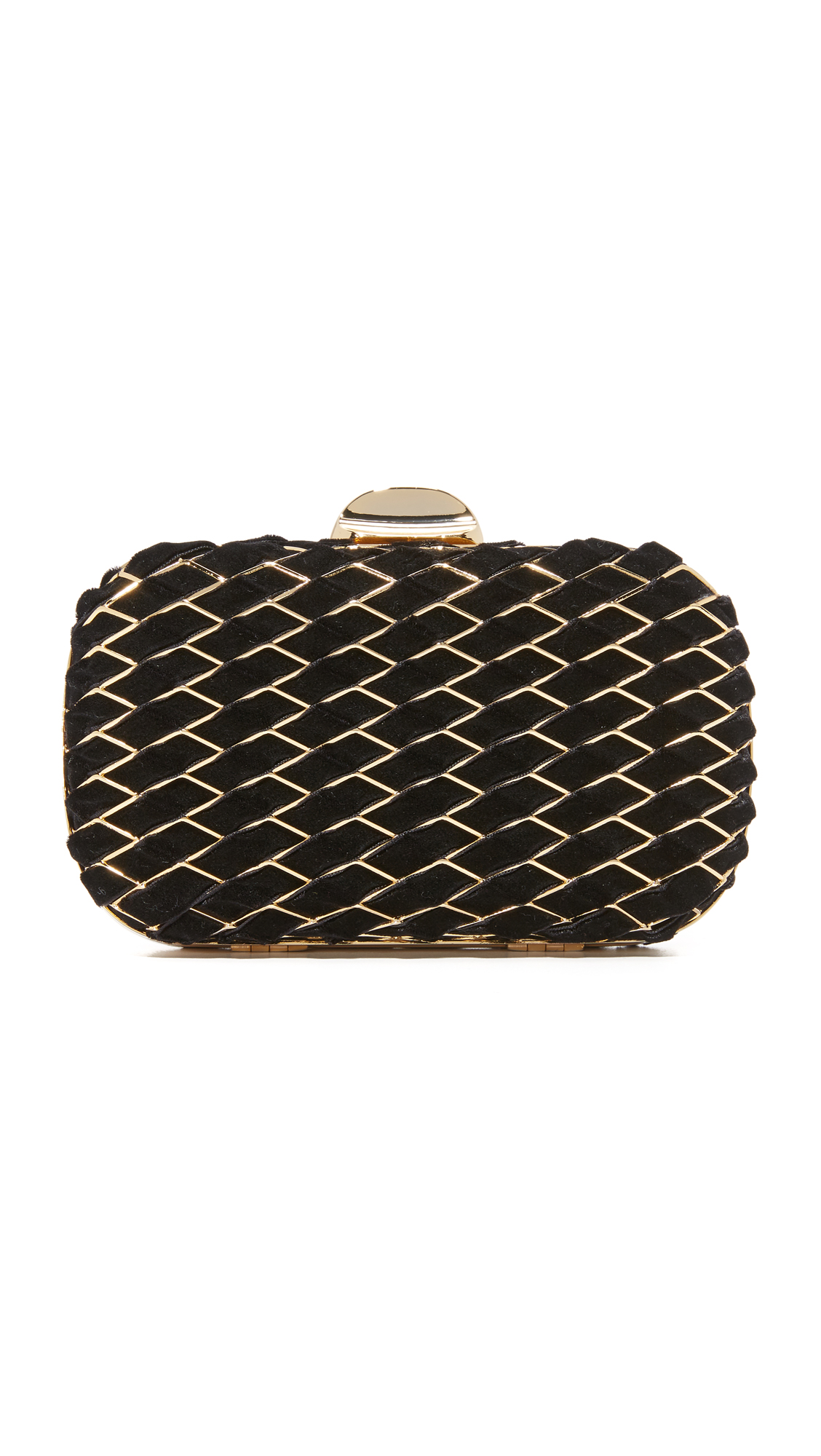 Inge Christopher Keira Clutch - Black/Gold