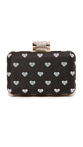 Inge Christopher Hearts Clutch - Black/White