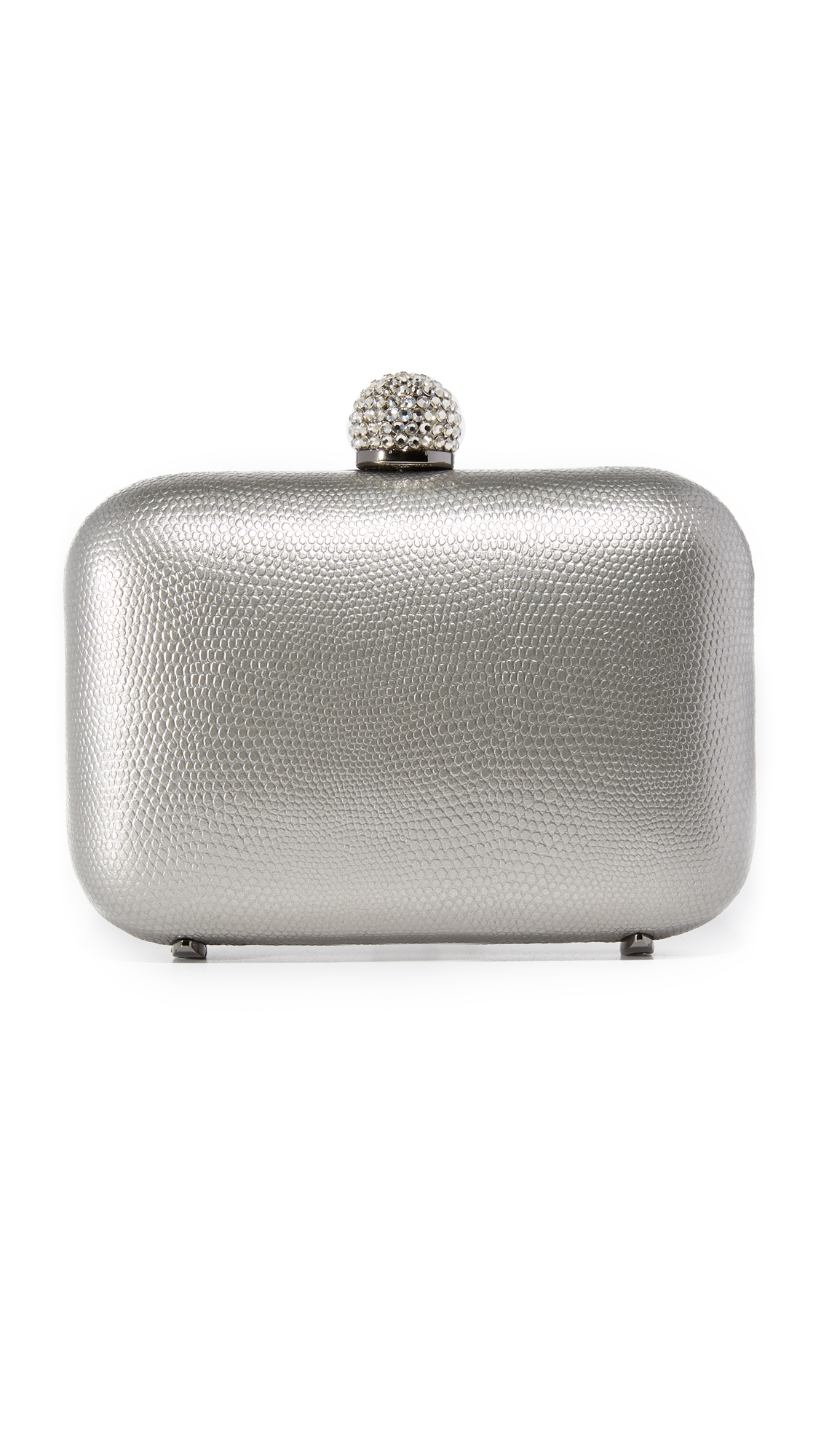 Inge Christopher Fiona Leather Clutch - Pewter