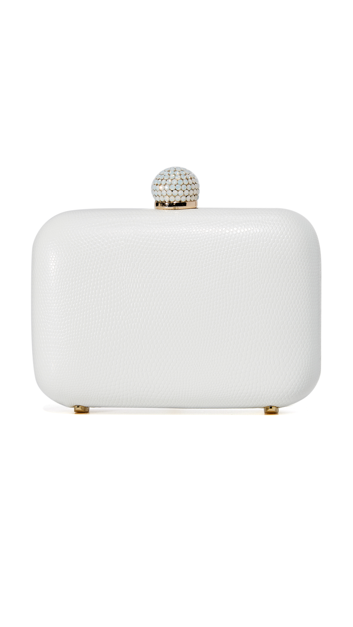Inge Christopher Fiona Leather Clutch - Pearl