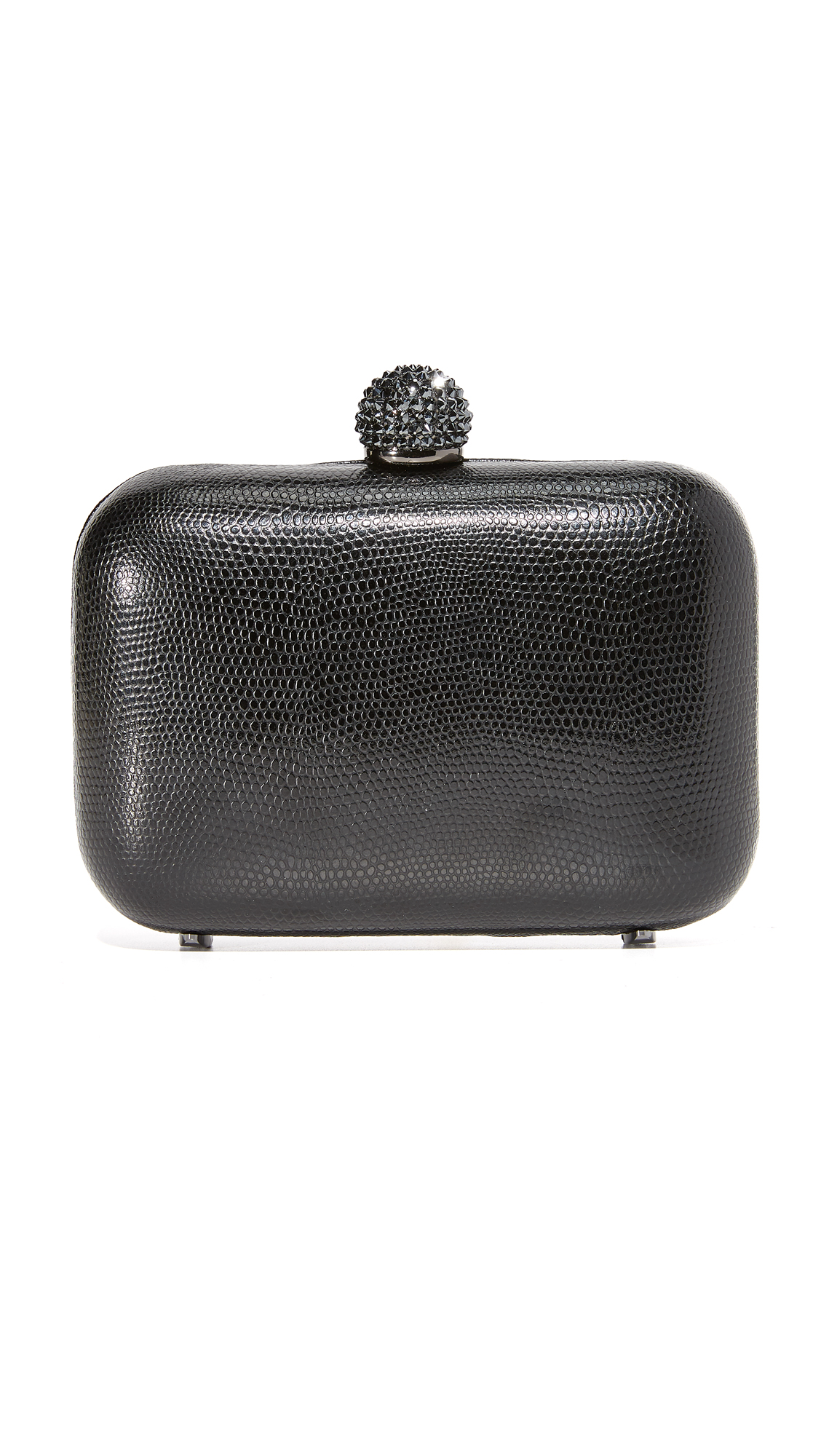 Inge Christopher Fiona Leather Clutch - Black