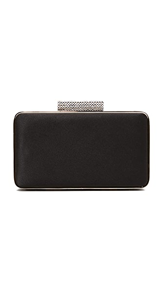Inge Christopher Allegra Satin Clutch - Black