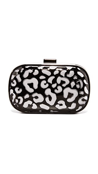 Inge Christopher Tatiana Leopard Clutch - Grey