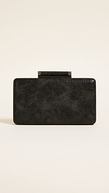 Inge Christopher Bailey Croc Embossed Clutch