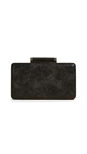 Inge Christopher Bailey Croc Embossed Clutch In Black