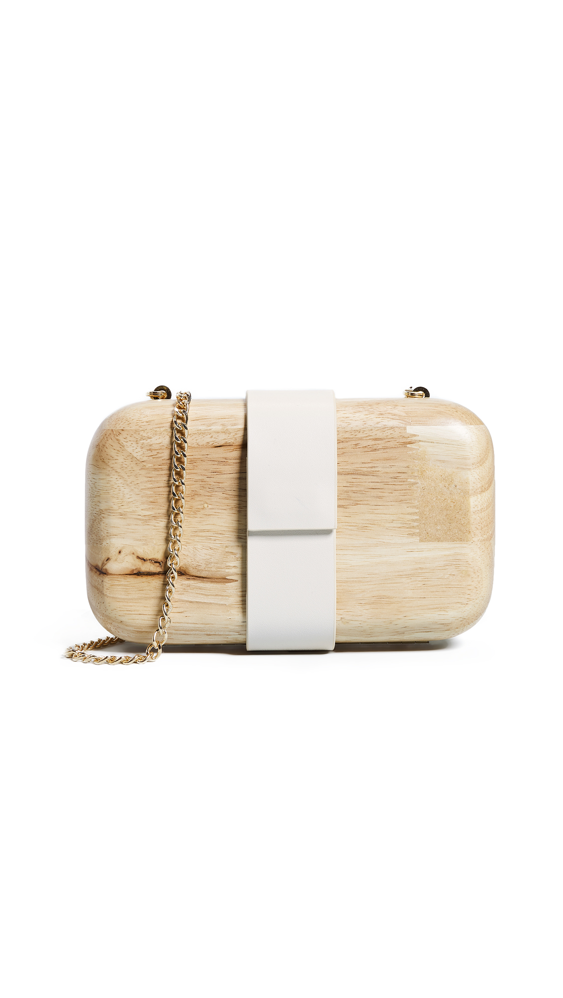 Lucia Wooden Clutch, Natural