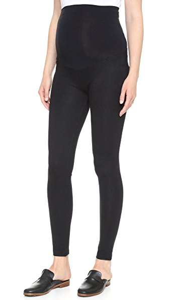 Ingrid & Isabel Ponte Skinny Maternity Leggings In Black