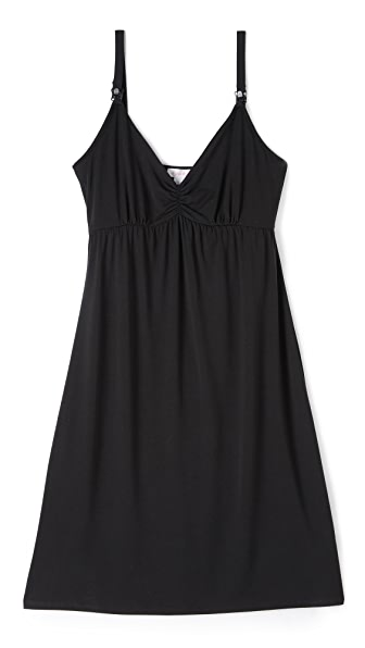 Ingrid & Isabel Drop Cup Nursing Chemise - Black