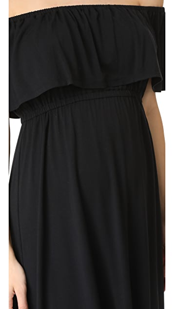 Ingrid & Isabel Off Shoulder Midi Dress