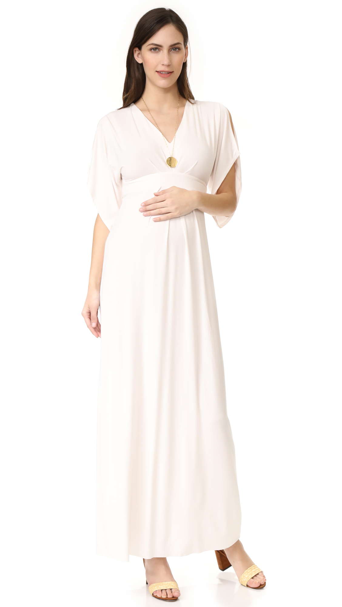 Ingrid & Isabel Kimono Maxi Dress In Ivory